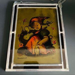 1985 M.J. Hummel West Germany Glass  Art